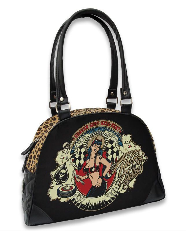 Hotrod Hellcat Damen HEAVEN SENT Handtasche/Bowling Bags.Tattoo,Pin up Style