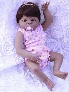 a725efc9a Bebê Reborn Menina Negra Reborn Morena Inteira De Silicone