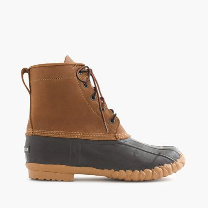 For over 100 years, LaCrosse has built some of the most rugged footwear available. Inspired by a vintage pair of boots that our designers discovered in Japan, we convinced the celebrated bootmaker to recast its classic duck boot in a lighter-weight version of the original. Ours are built with a waterproof rubber bottom and an exclusive full-grain leather upper for comfort (our designers worked with the factory to perfect the difficult leather-on-rubber construction). A sharp and tough…
