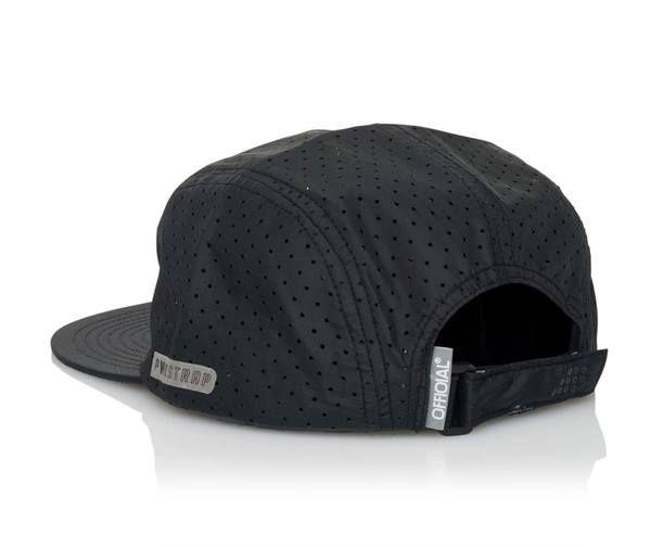 Official Cap Aero Black 5 Panel Perforated Strapback Skateboard Hat OSFM 3 | snapchat @ http://ift.tt/2izonFx