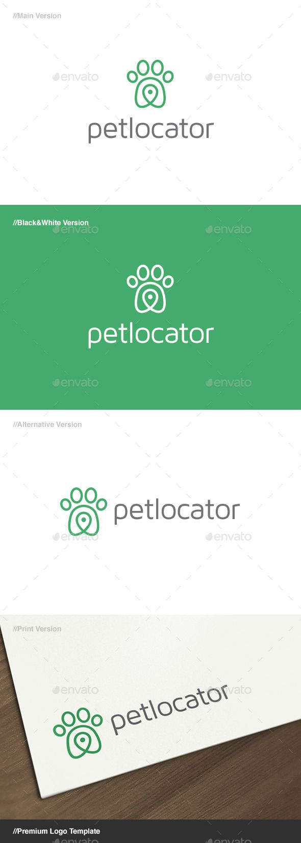 Pet Locator Logo — Vector EPS #software #app • Available here → https://graphicriver.net/item/pet-locator-logo/13021244?ref=pxcr