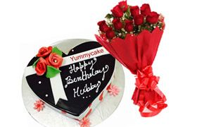 Get #heartShapedBirthdaycake  #comboOffer from #Yummycake  Book Your order on…
