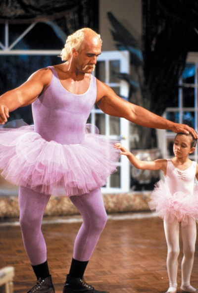 "Hulk Hogan in ""Mr. Nanny"".  I fell out of my chair laughing at this scene."
