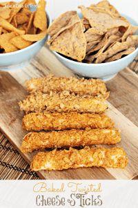 Baked Twisted Cheese Sticks ~ http://www.julieseatsandtreats.com