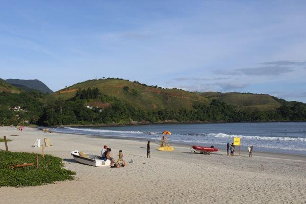 Praia de Maresias, em São Sebastião. Visite BrasilGuias