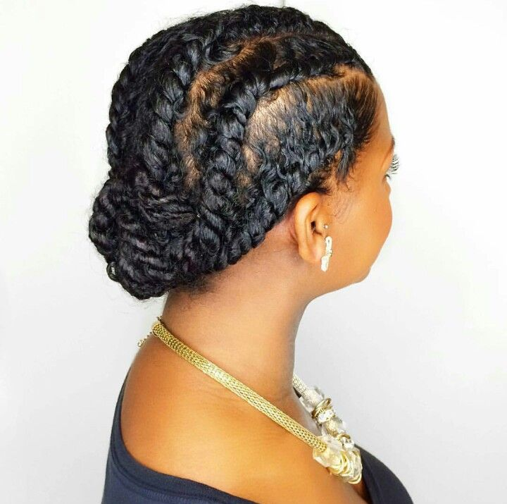 Flat Twist Low Bun                                                                                                                                                                                 More