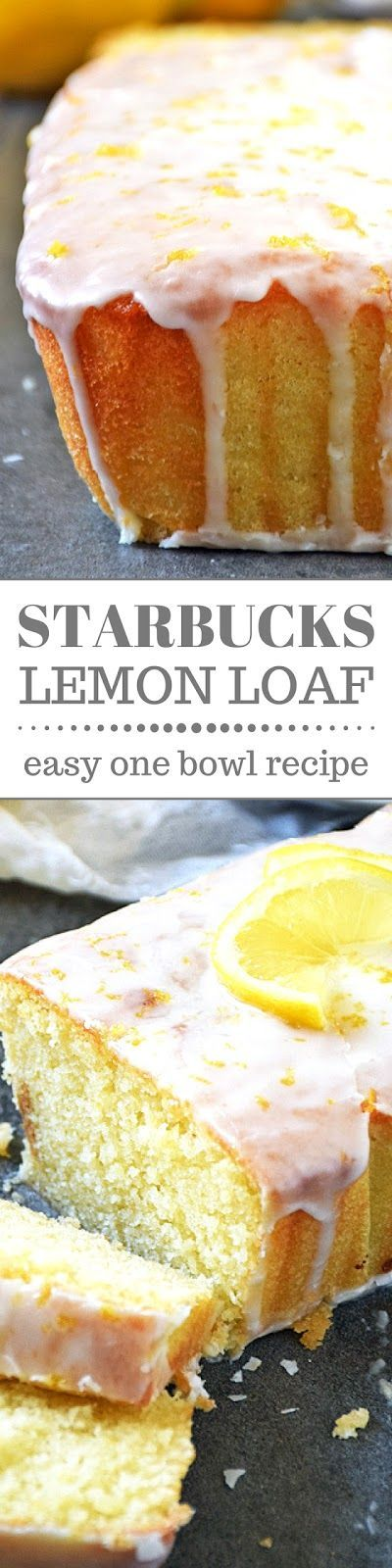 Now you can enjoy the deliciously tangy Starbucks Lemon Loaf without even leaving the house and you'll save money too! How great is that?! This copycat recipe is pretty easy to make and bursting with tangy lemon flavor. A family favorite for sure!