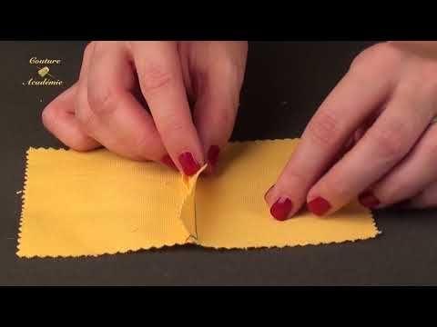 Apprendre à coudre la COUTURE RABATTUE SIMPLE Cours de couture gratuits - YouTube