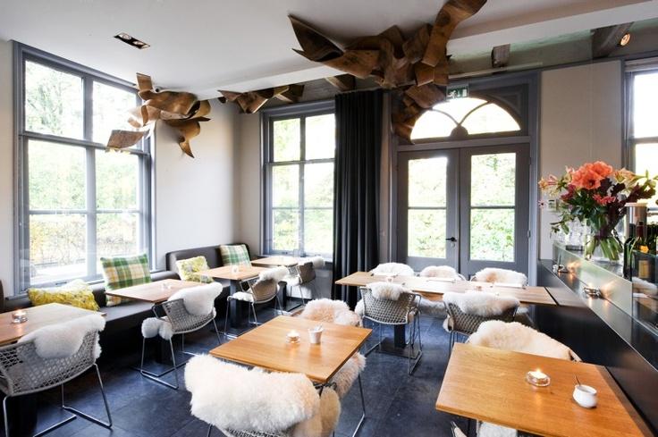 Restaurant Merkelbach @ Frankendael Amsterdam. The ceiling sculpture was made by the German artist Dennis Feddersen