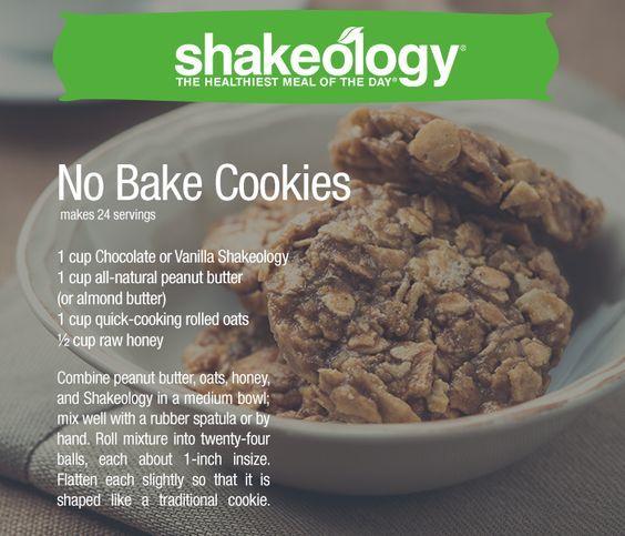 No Bake Cookies made with Shakeology. Recipe on blog, Shakeology here: http://www.shakeology.com/where-to-buy?TRACKING=SOCIAL_SHK_PI