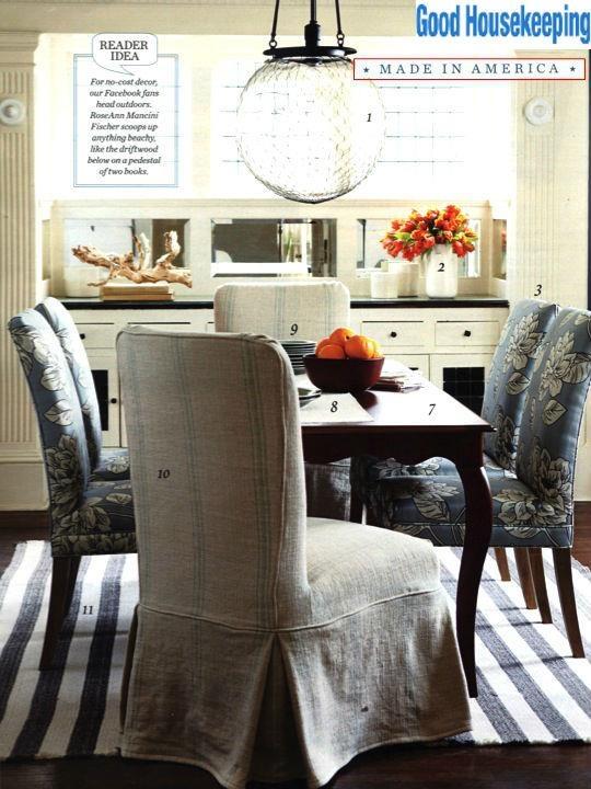 Shabby chic grainsack slipcover dining chair slipcover ideas pinterest sacks shabby and chic - Shabby chic dining room chair covers ...