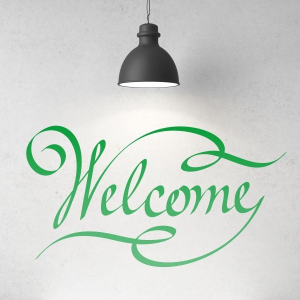 66 best images about textos vinilos decorativos on pinterest un frase and collage - Vinilo welcome ...