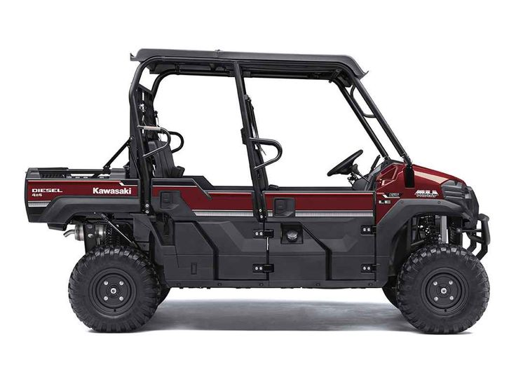New 2017 Kawasaki Mule PRO-DXT™ EPS LE Diesel ATVs For Sale in Nevada. KAWASAKI STRONG The 2017 MULE PRO-DXT side x side packs incomparable strength and endless durability backed by over a century of Kawasaki Heavy Industries, Ltd. engineering. For an innovative way to get the job done, the MULE PRO-DXT features a Trans Cab™, allowing it to convert back and forth from three-passenger to six-passenger mode with ease. To top it off, the MULE PRO-DXT is backed confidently by the Kawasaki STRONG…