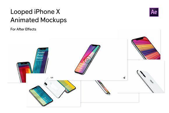 Animated Iphone X Mockup For Ae Mockup Animation Mockup Design