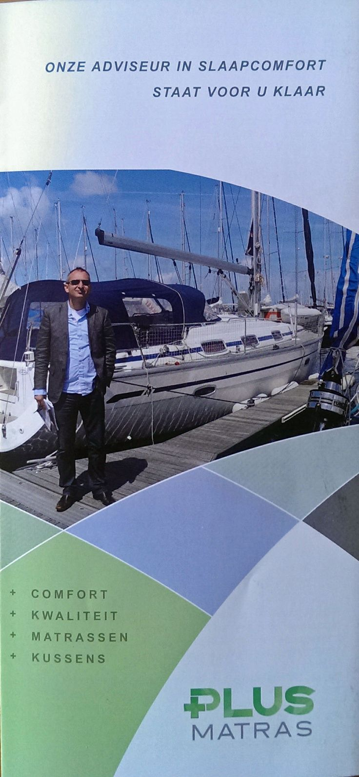 Folder over matrassen voor de boot (maatwerk)