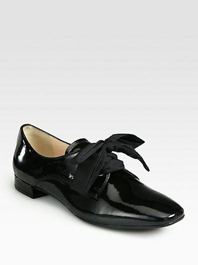 Prada - Patent Leather Oxfords - Saks.com