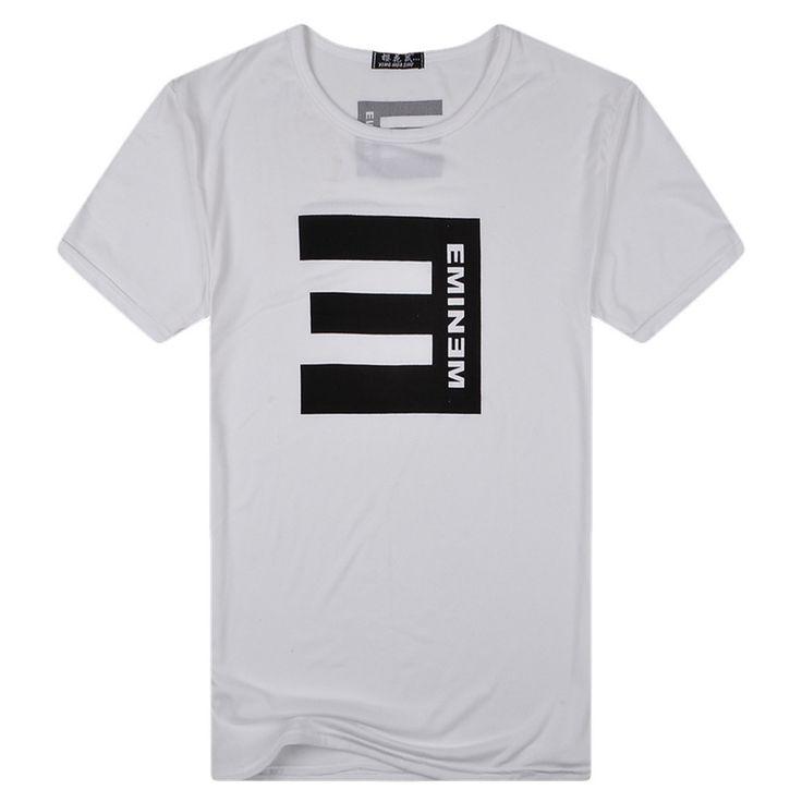 Eminem Letter Print Men's Casual T-Shirt | 9th Wave