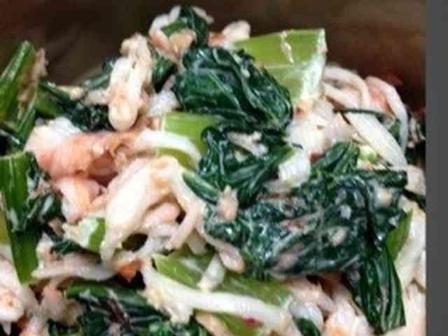 小松菜の簡単サラダ❤の画像