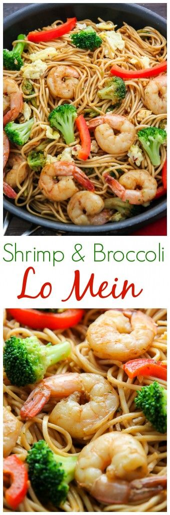 20-Minute Shrimp and Broccoli Lo Mein - so much better than take-out!!!