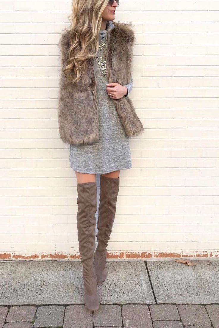 Fall Winter Knee High Boots For Fashion Outfits