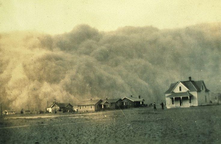 Tormenta de polvo en Texas, 1935.