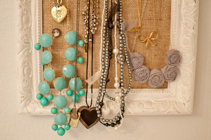 Domestic Fashionista: DIY Cork Board Jewelry Frame