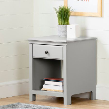 South Shore Cotton Candy 1 Drawer Nightstand White Walmart Com