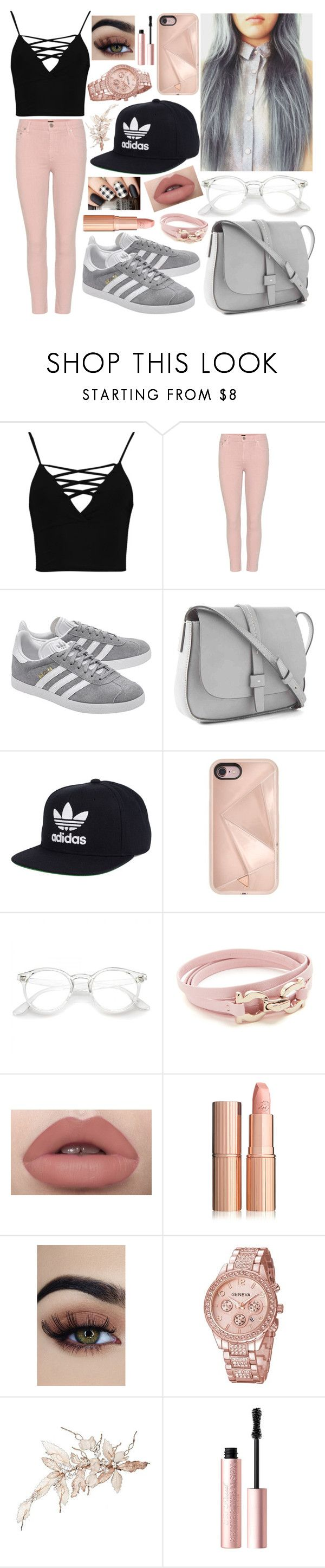 """ADIDAS"" by nirataa ❤ liked on Polyvore featuring Boohoo, Citizens of Humanity, adidas Originals, Gap, adidas, Rebecca Minkoff, Salvatore Ferragamo and Too Faced Cosmetics"