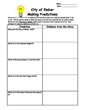 for this worksheet students will make predictions about what they think will happen next in the. Black Bedroom Furniture Sets. Home Design Ideas