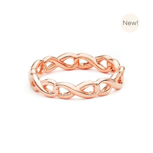 Infinity Links Stackable Ring Rose Gold Plated