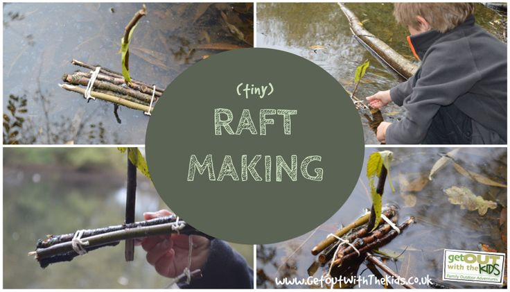 Sometimes the smallest of things can keep the kids busy. Here we make a tiny raft out of twigs - raft making on a tiny scale. Make a few and have a race.
