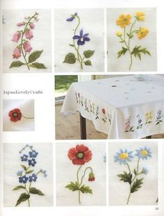 Wonderful Embroidery by Onoe Megumi Flower by JapanLovelyCrafts