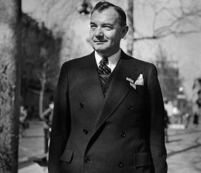 Robert Jackson, procureur en chef pour les États-Unis lors des procès de Nuremberg, ici à Paris le 30 mars 1946.
