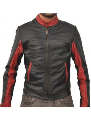 $178.28 Bruce Wayne Leather Jacket Batman The Dark Knight Costume for sale online free shipment UK and USA low price buy now. #Bruce #Wayne #Leather #Jacket #Batman #The #Dark #Knight #Costume