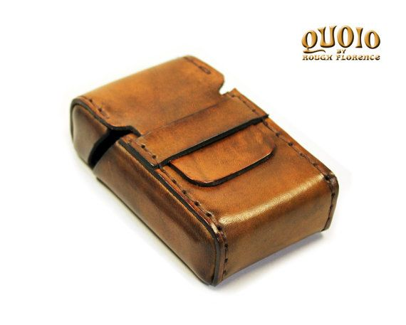 20 Cigarette Packet Leather Case Cigarette by QUOIObyRoughFlorence