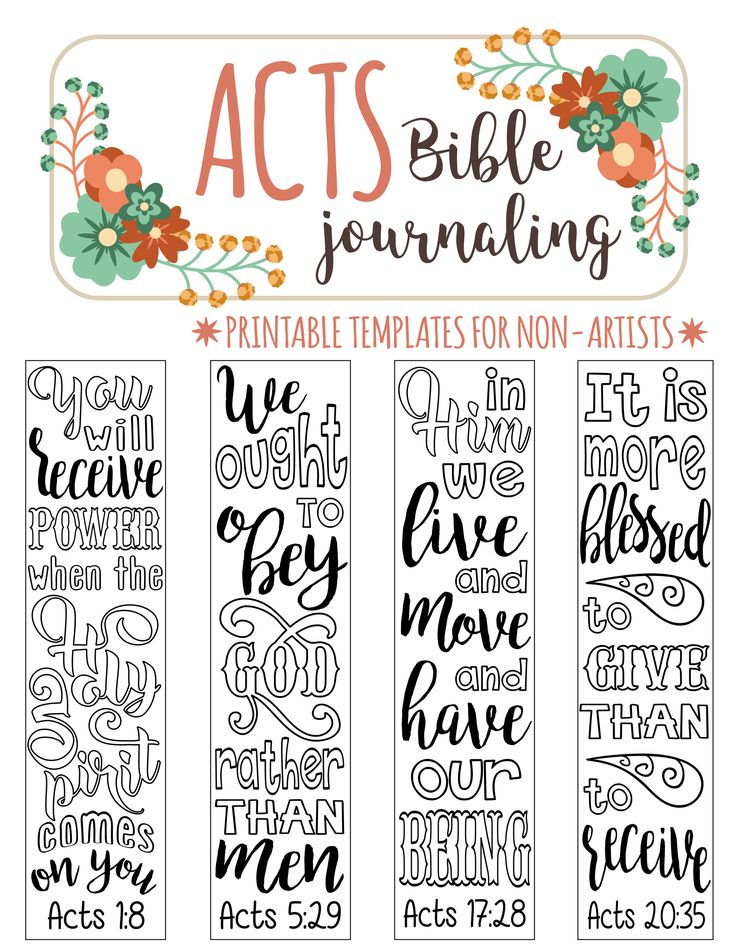 ACTS - printable Bible journaling templates for non-artists. Just PRINT & TRACE!