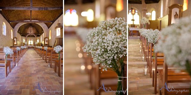Les moineaux d coration glise gypsophile wedding pinterest more mariage and wedding ideas - Decoration eglise mariage ...