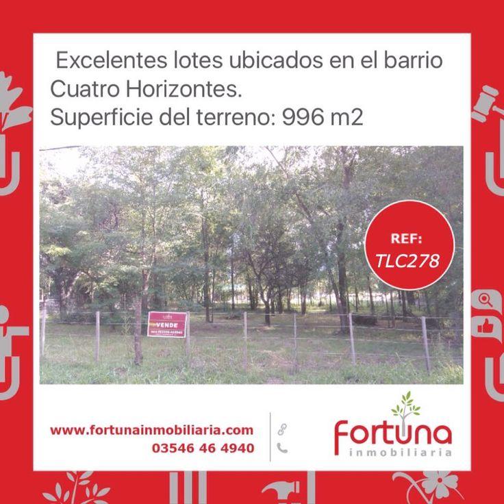 Lotes en 4 Horizontes, Villa Gral. Belgrano   #FortunaInmobiliaria  #HoldingFortuna