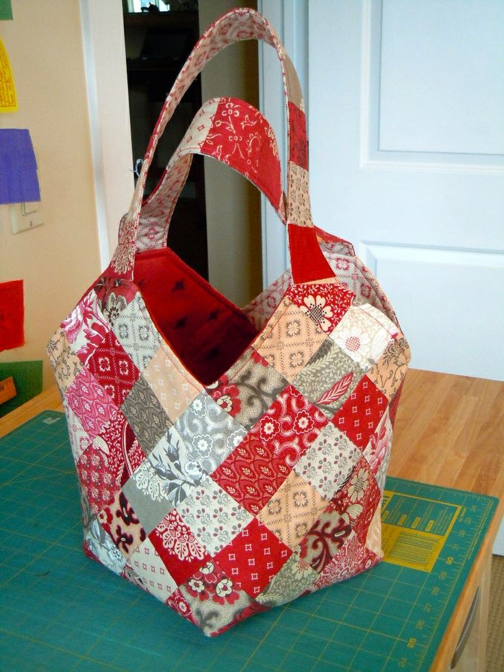 """""""Midi Bag"""" French General Fabric. Pattern by Quiltsmart ..."""