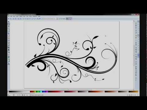 Creating your own flourishes & swirls using Inkscape! I LOVE flourishes & swirls! <3