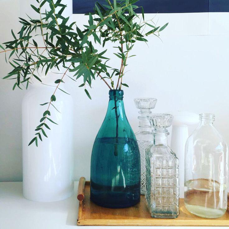 Glass bottles, styling Anna-Kaisa Melvas