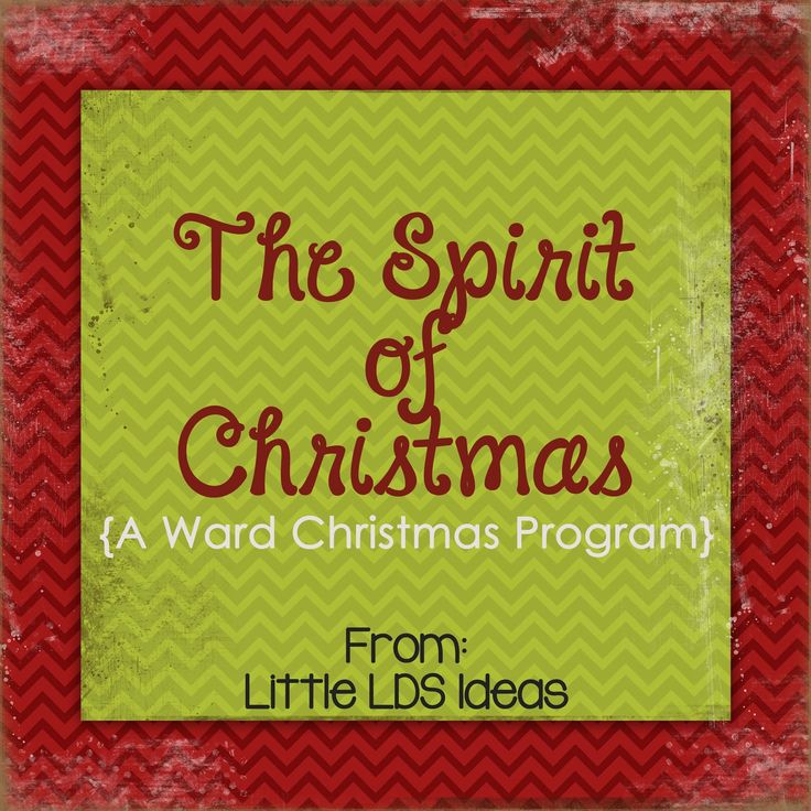 Little LDS Ideas: The Spirit of Christmas: {A Christmas Ward Program}. We did this last year. It was a very spiritual program that everyone enjoyed.