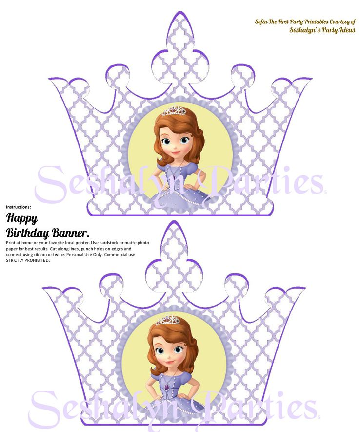 Sofia The First Free Party Printables | Seshalyn's Party Ideas
