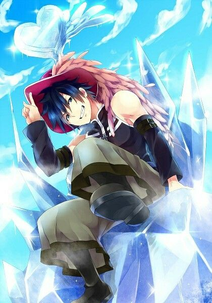 Gray Fullbuster - can he get any better? Even in a women's hat!