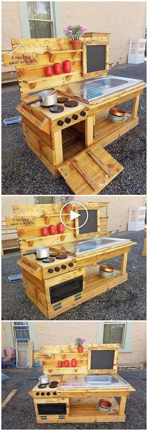 Si vous souhaitez aménager une place pour la cuisine extérieure, vous pouvez … #WoodWorking