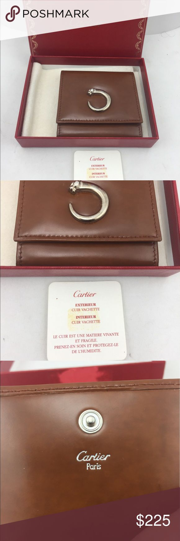 Vintage Cartier Panthere Jasper Square Coin Purse! In excellent condition.  Does not appear to have been used.  In original box with original padding with Cartier on the material. Cartier Bags Wallets