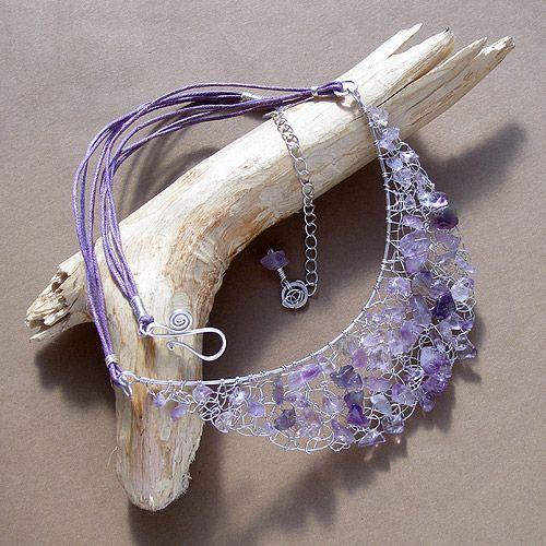 How To Crochet Wire Jewelry | jewelry - wire crochet knit