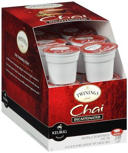 Twinings Chai Decaf, K-Cup Portion Pack for Keurig K-Cup Brewers, 24 Count (Pack of 2) - http://teacoffeestore.com/twinings-chai-decaf-k-cup-portion-pack-for-keurig-k-cup-brewers-24-count-pack-of-2/
