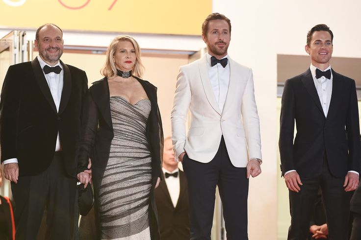 """Ryan Gosling Photos - Producer Joel Silver and his wife, actor Ryan Gosling and actor Matt Bomer attend """"The Nice Guys"""" premiere during the 69th annual Cannes Film Festival at the Palais des Festivals on May 15, 2016 in Cannes, France. - 'The Nice Guys' - Red Carpet Arrivals - The 69th Annual Cannes Film Festival"""
