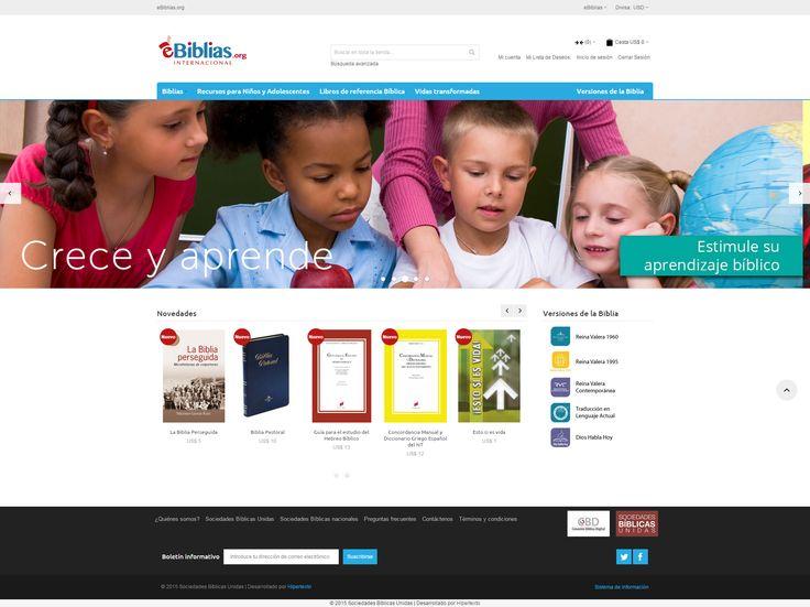 Diseño de portal web eBiblias.org en proceso de desarrollo.